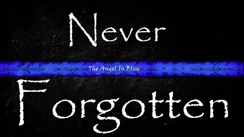 A fallen police officer lost in the line of duty, while serving and protecting