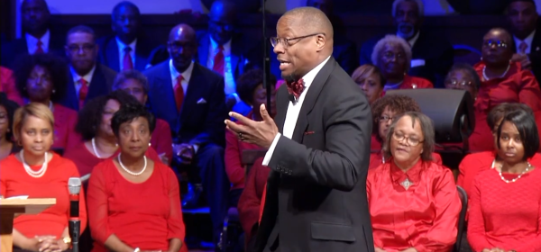 Pastor Cosby directs the song Oh To Be Kept, Wheeler Avenue Baptist Church Houston, Tx
