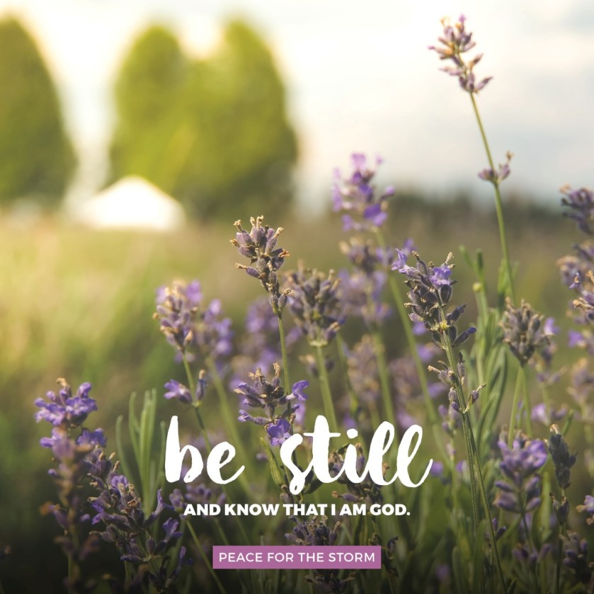 Peace be still and let God rule your heart